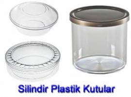 Sert Plastik Silindir Kutular