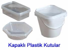 Kapaklı Plastik Sızdırmaz Kutular